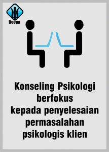 konseling psikologi berfokus kepada penyelesaian permasalahan psikologis klien