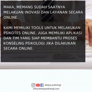 Biro psikologi Deepa mengembangkan layanan online untuk konseling dan psikotes
