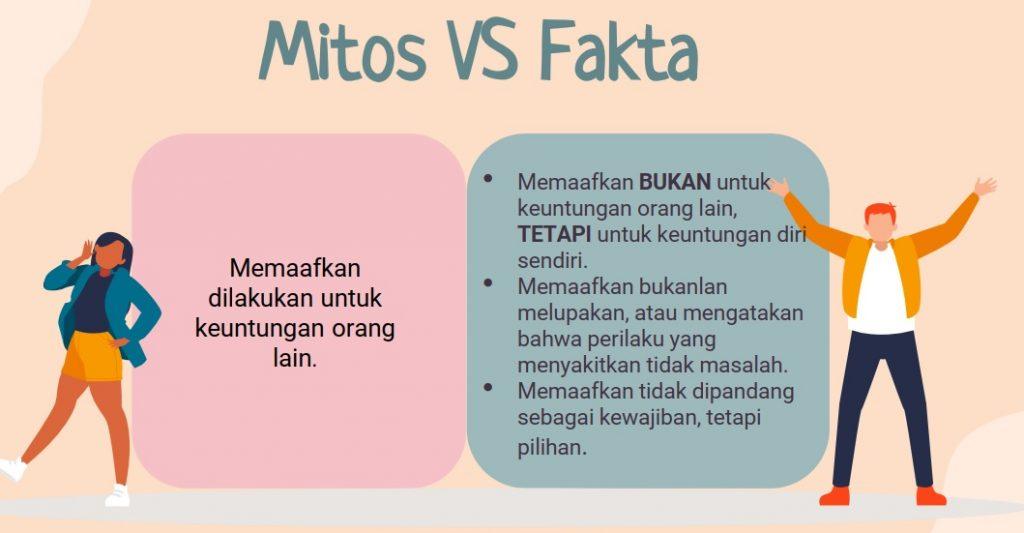 Mitos dan fakta tentang Forgiveness belajar memaafkan diri sendiri dan orang lain