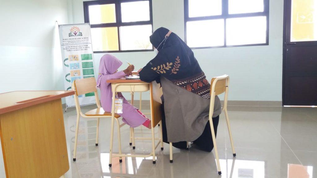 Psikotes anak SDIT di sekolah Nurul Imam